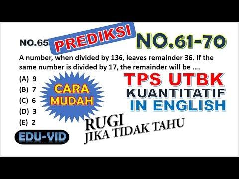 Prediksi Soal Tps Utbk 2020 Pengetahuan Kuantitatif Bahasa ...