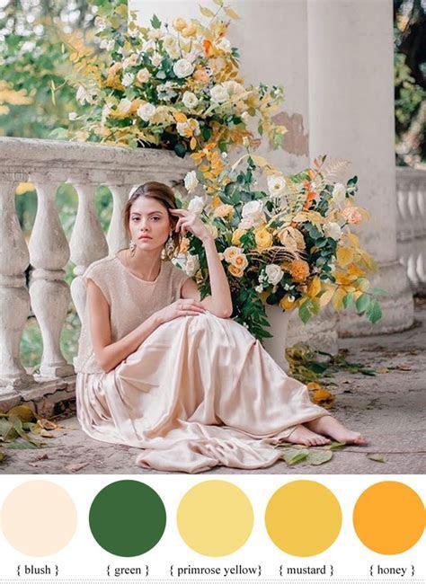 Blush   green   yellow summer wedding colour ideas