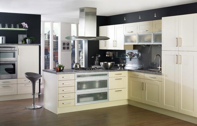 white shaker style kitchen - contemporary - kitchen cabinets ...