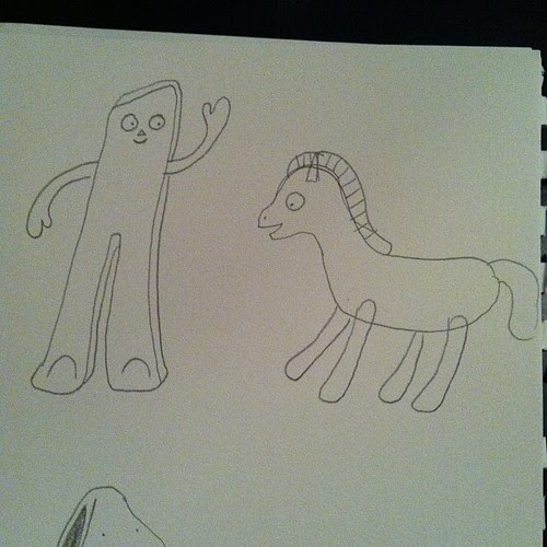 Gumby and Pokey from memory.
