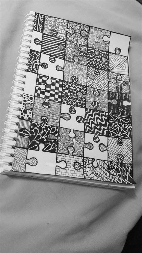 Jigsaw puzzle doodle | Doodle art designs, Art drawings