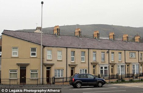 house that looks like hitler. The oddly-shaped house stands
