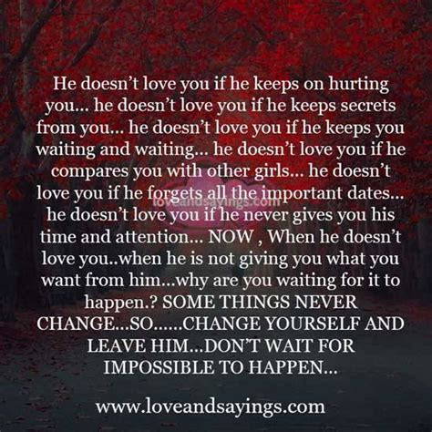 If He Doesnt Love You Quotes