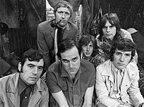 The Python team  Back row: Graham Chapman, Eri...
