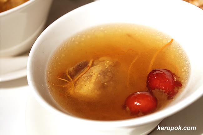 Double Boiled Sakura Chicken Soup