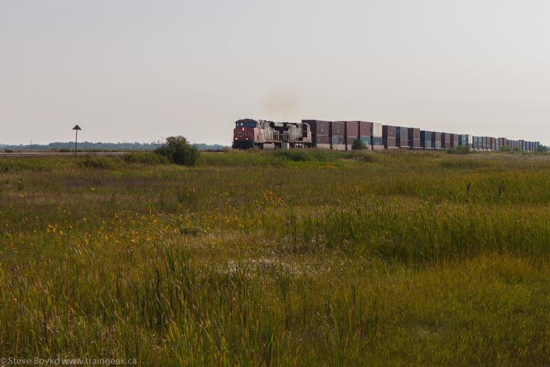 CN train 111 outside Winnipeg
