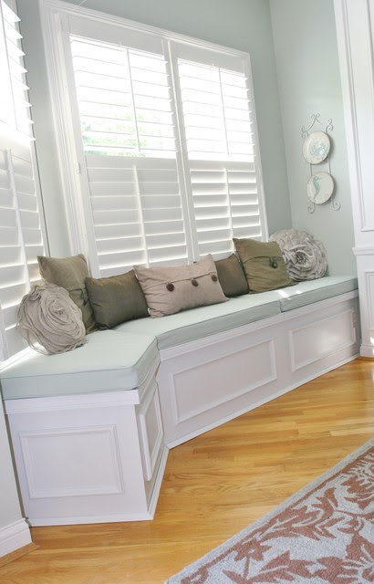 Huntington Built-in bench seat with lids for storage ...