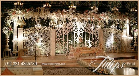 Fairy wedding gate stage   Tulips Event Management
