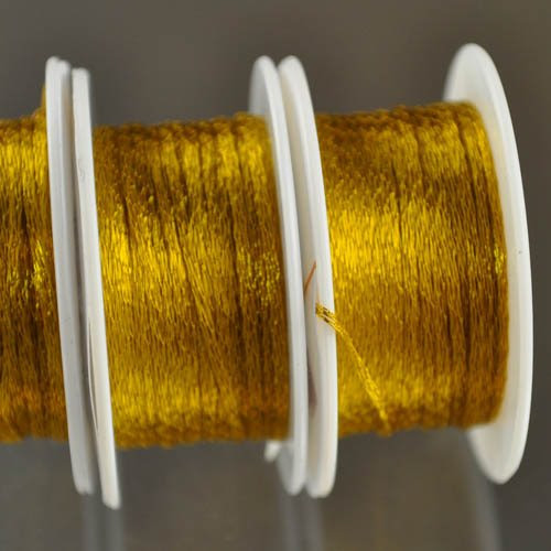 s28360 Stringing - 1 mm Wire Lace Ribbon - Marigold (Yard)