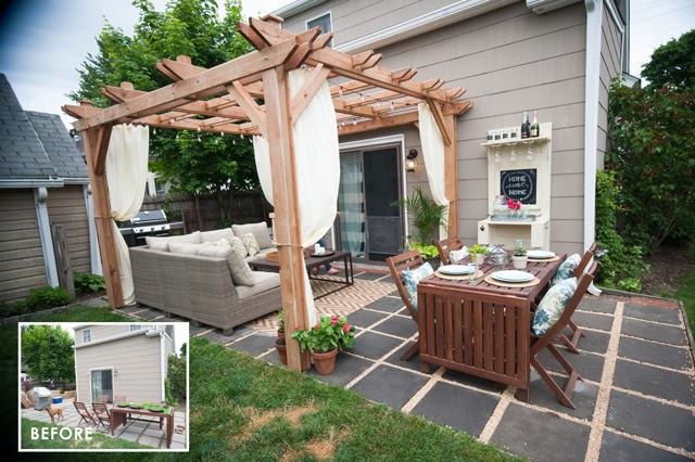 Outdoor Living Room Makeover for Small Spaces with Lowes ... on Cheap Outdoor Living id=49868