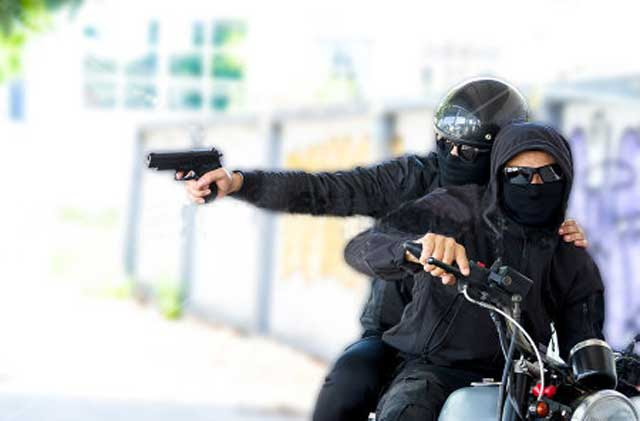 Woman and son shot by motorcyclist in Hathwadunna