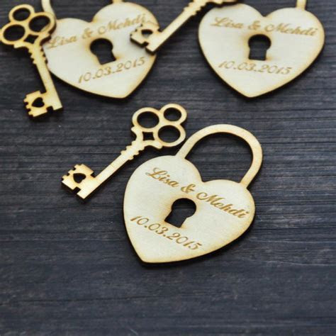Wholesale Personalized Wedding Favor Tags, Wood Heart And