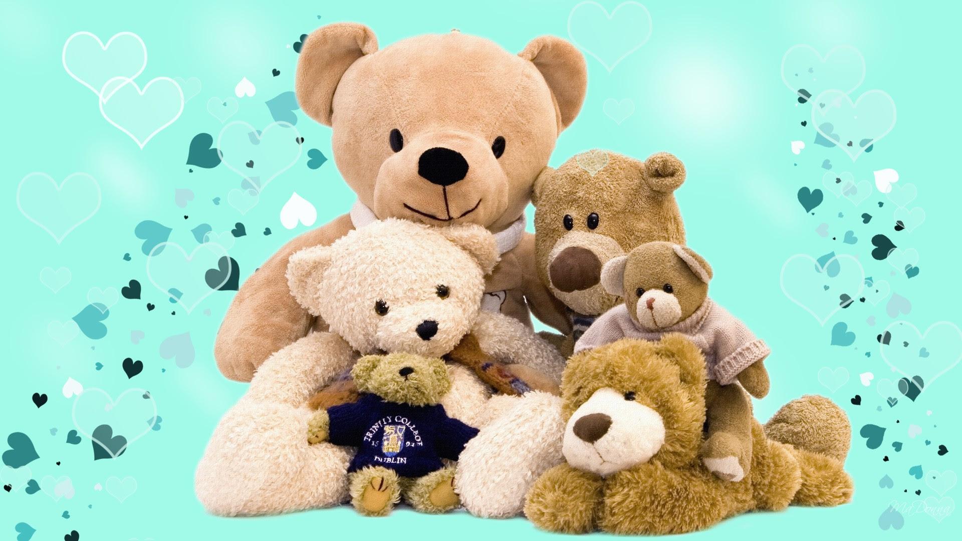 Cute Teddy Bear Wallpaper 1920x1080 55649