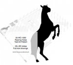 Rearing Horse Yard Art Woodworking Pattern 8ft tall - fee plans from WoodworkersWorkshop® Online Store - horses,equestrian,rearing horse,up on two legs,on hind legs,yard art,painting wood crafts,scrollsawing patterns,drawings,plywood,plywoodworking plans,woodworkers projects,workshop blueprints