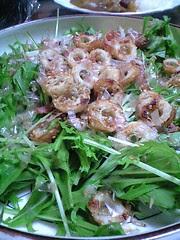 水菜とちくわのサラダ@自宅