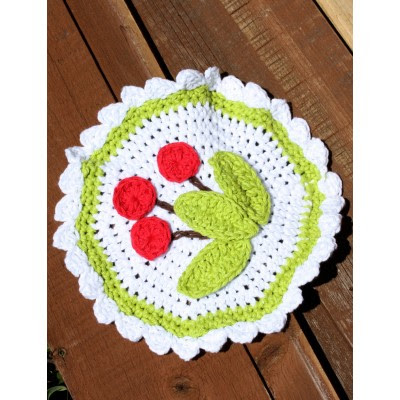 Cherry Dishcloth