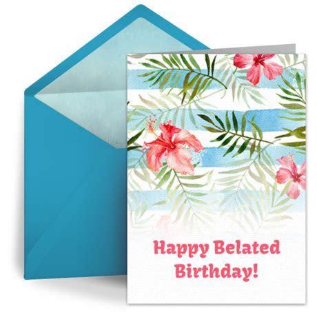 Belated Birthday Flowers   Free Belated Birthday eCard