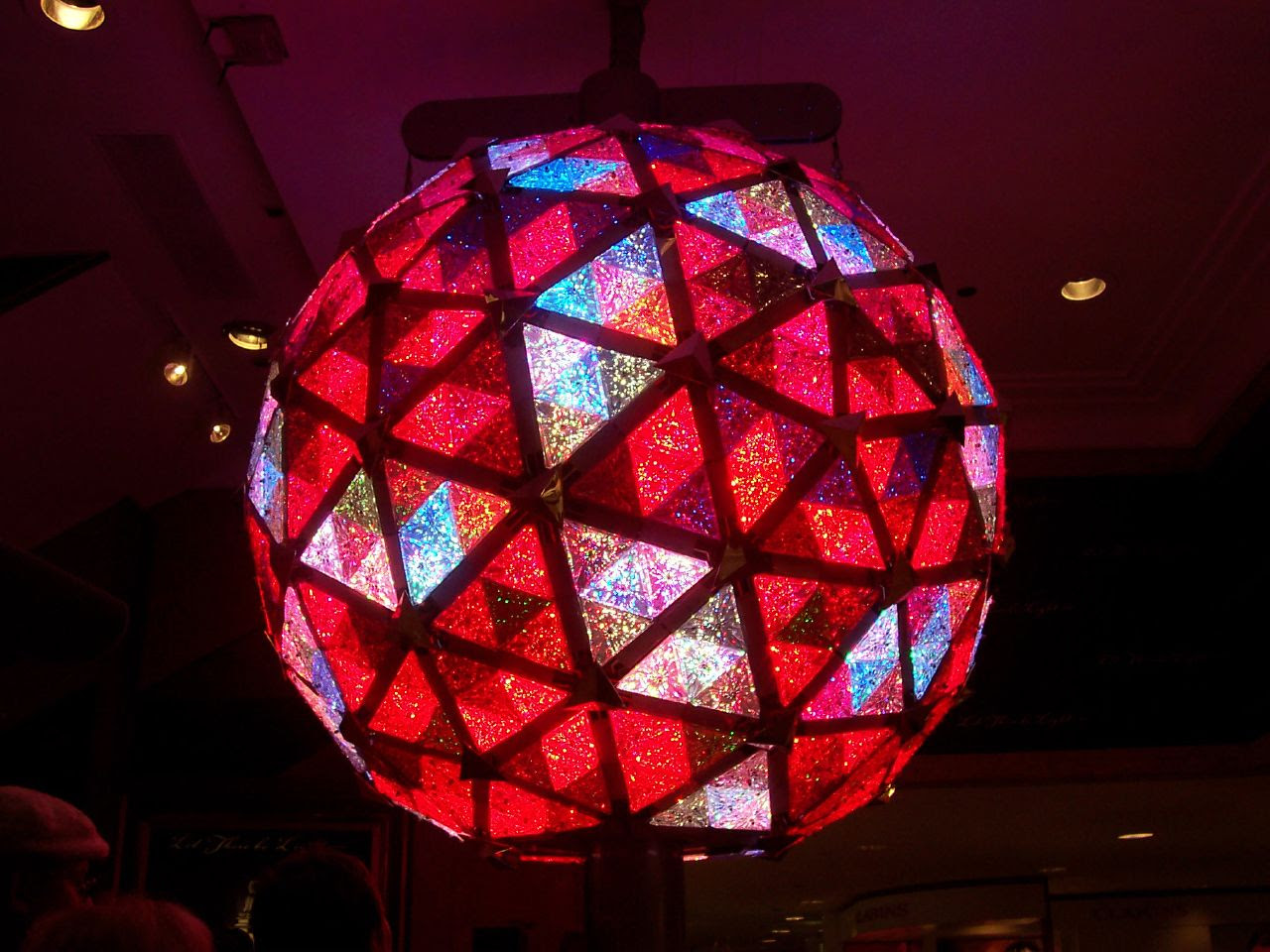 New Year's Eve Ball displayed at Macy's in NYC