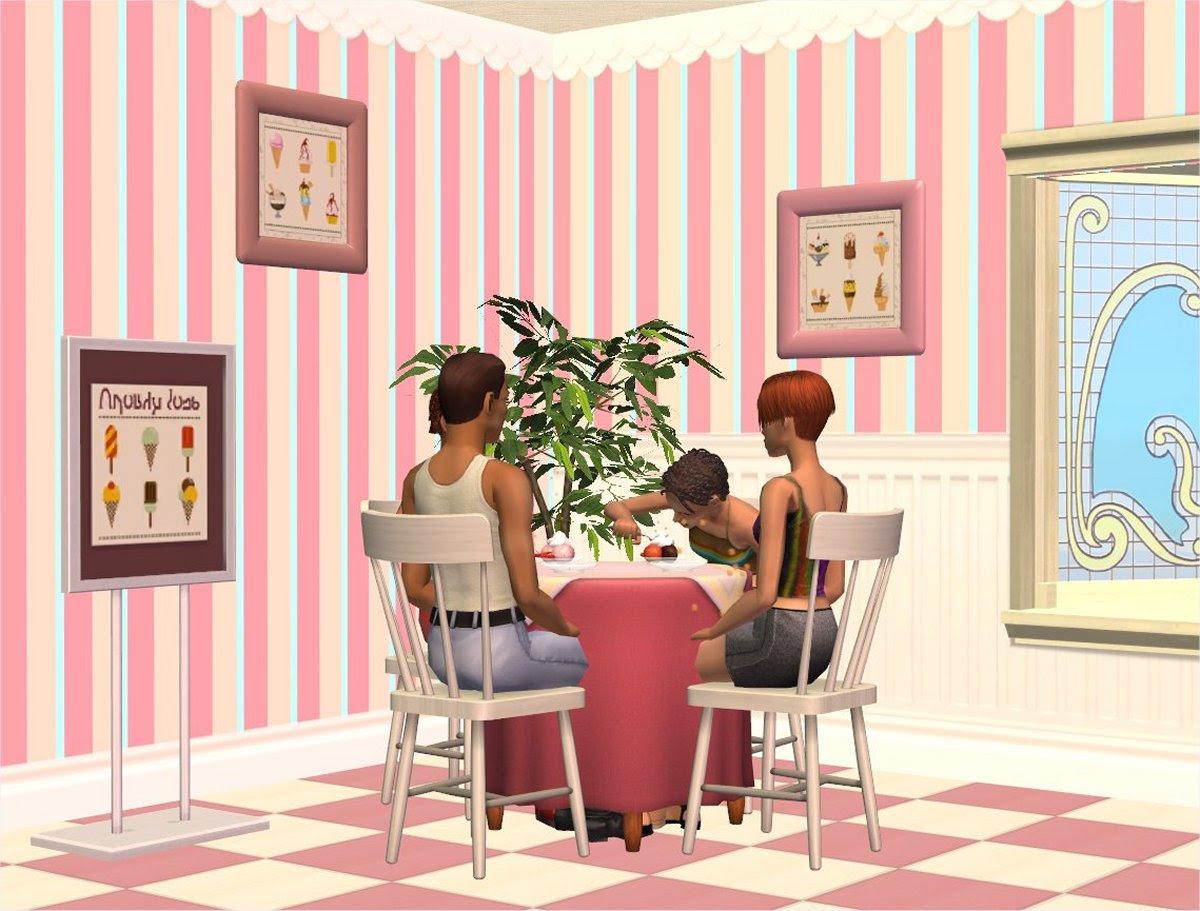 Ice Cream Shop Wallpaper