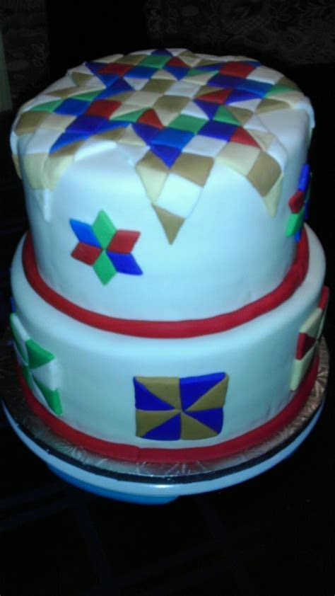 17 Best images about Quilt Cakes on Pinterest   Cakes