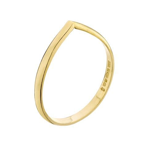 Gold Wishbone Wedding Ring   FrillyByLily