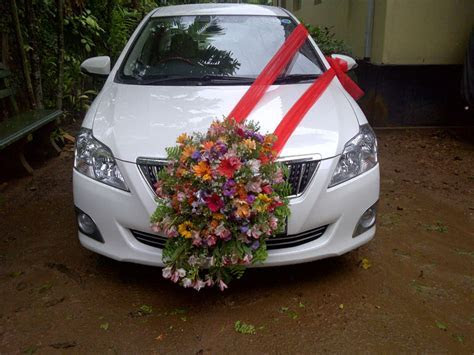 Wedding Car Decorations for Weddings in Sri Lanka
