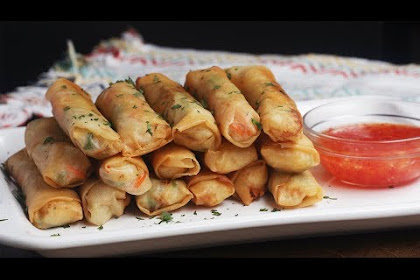 Vegetable And Shrimp Lumpia