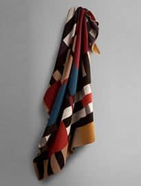 Geometric Check Blanket Scarf
