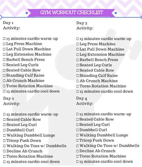 beginner gym workout  women  printable kicking
