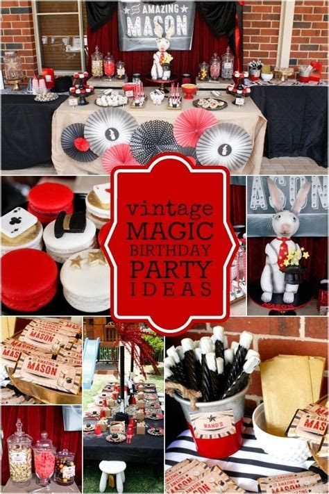 BOY'S VINTAGE MAGIC BIRTHDAY PARTY IDEAS   BIRTHDAY PARTY