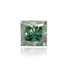 0.19 quilates, Fancy Profundo azulado Green Diamond, Princesa, VS2
