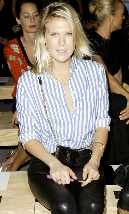 LE FASHION BLOG ALEXANDRA RICHARDS FRONT ROW SAINT LAURENT SS 2014 STRIPES 2 photo LEFASHIONBLOGALEXANDRARICHARDSFRONTROWSAINTLAURENTSS2014STRIPES2.png