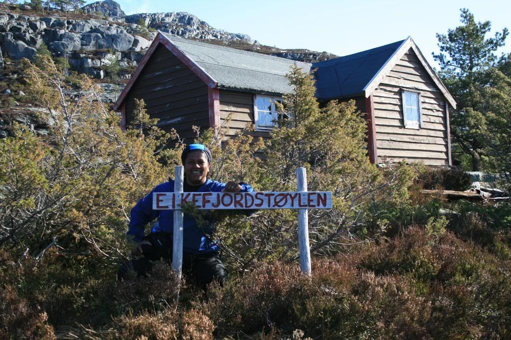 Magga til topps på Eikefjordstøylen