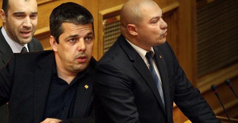 Οι βουλευτές της Χρυσής Αυγής, Ηλιόπουλος Μπούκουρας και Γερμενής, τους οποίους φέρεται να εννοεί ο Αντώνης Σαμαράς