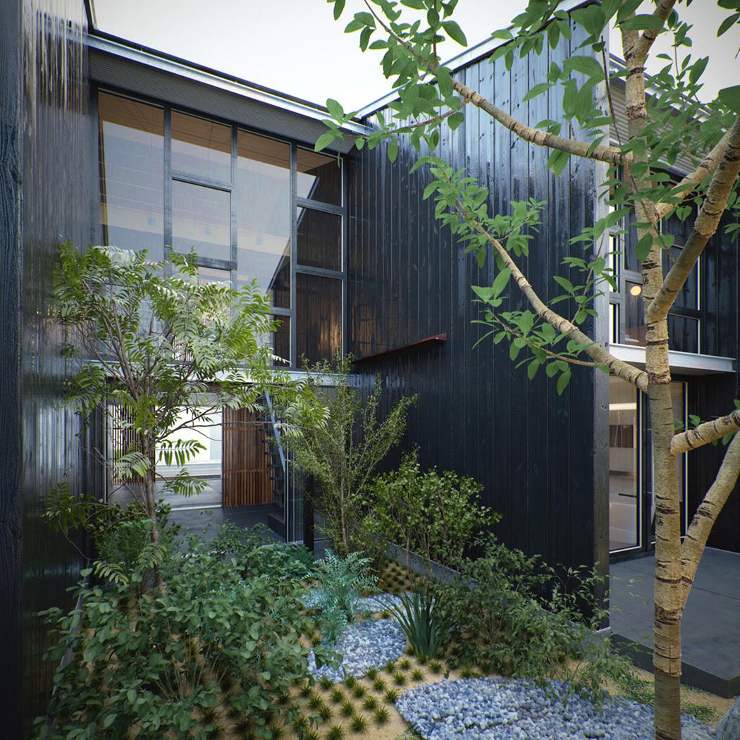 Modern architecture zen garden | Interior Design Ideas.