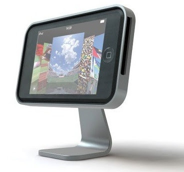 This is the iClooly, an aluminum stand for your iPod touch (RSJ-ICRT01) or