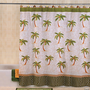 Palm Tree Shower Curtain - Oriental Trading - Discontinued