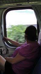 Mom on Train