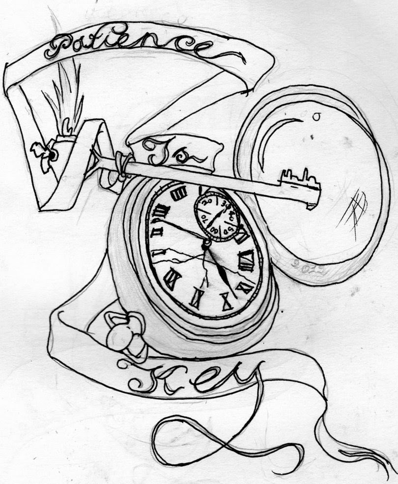 Pocket Watch With Roses Drawing At Getdrawingscom Free For