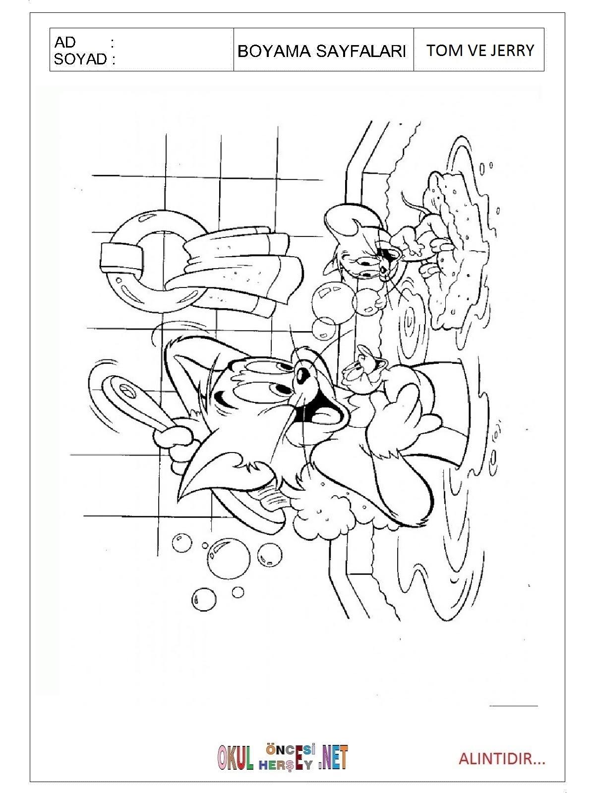 Tom Ve Jerry Boyama Sayfaları