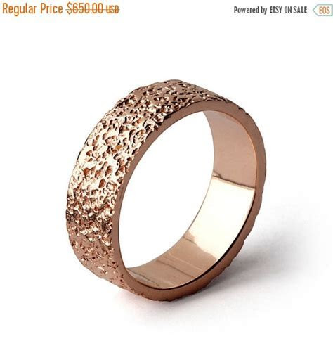 Cyber Monday SALE   STARDUST 14k Rose Gold Wedding Band