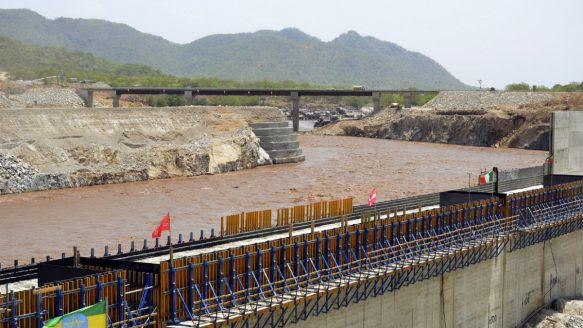 Ethiopia has begun diverting the Blue Nile as part of a giant dam project that is creating tension with Egypt.