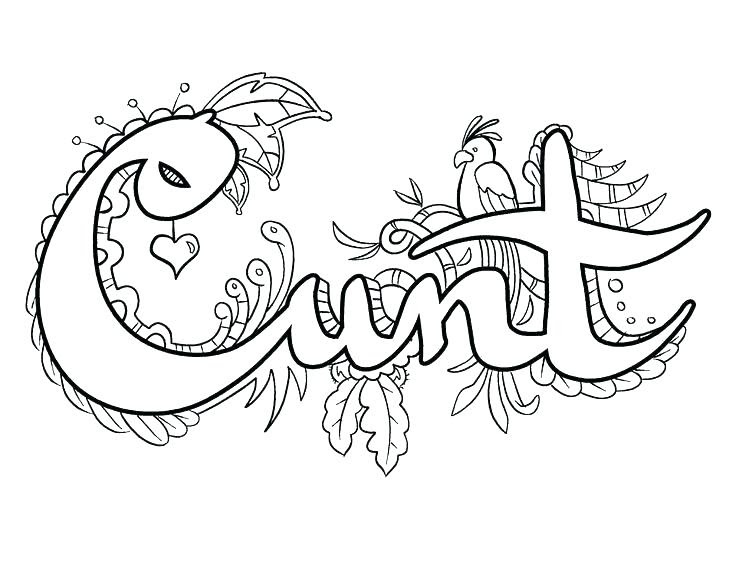 Free Printable Coloring Pages For Adults Cuss Words - Coloring And Drawing