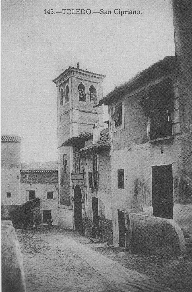 Iglesia de San Cipriano a inicios del siglo XX. Foto Grafos. Colección Luis Alba