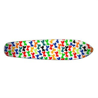 Multi-color Butterflies skateboard