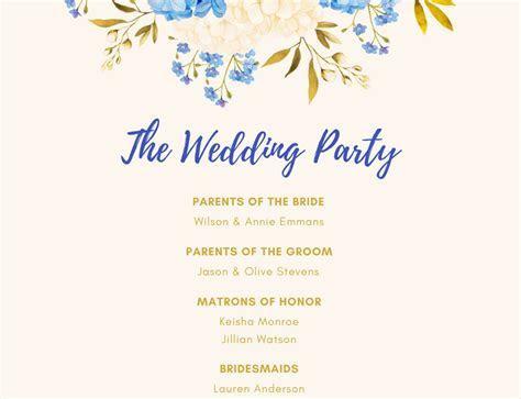 Free Online Wedding Program Maker: Design a Custom Wedding