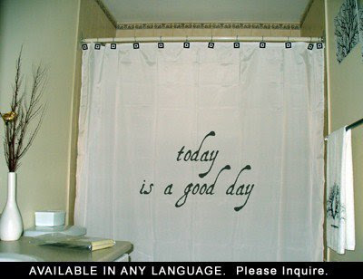 Inspirational Shower Curtain Inspiring from