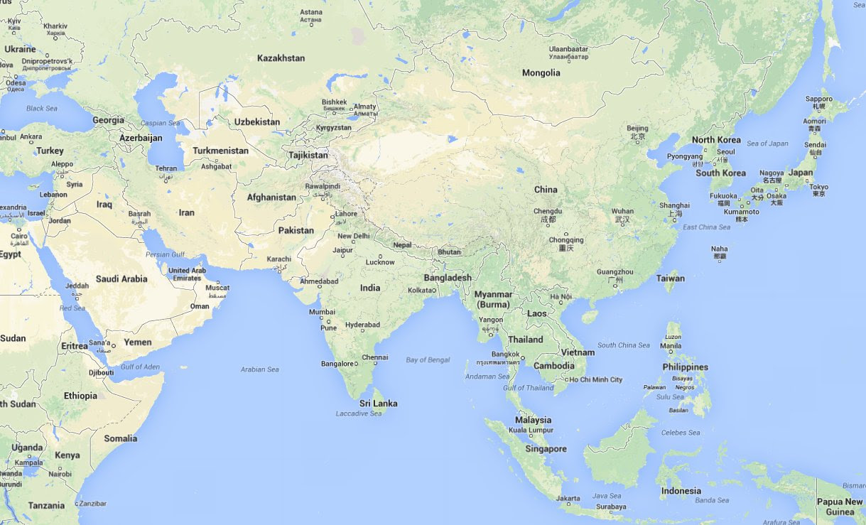 Google Map Of Asia.25 Beautiful Google Asia Map