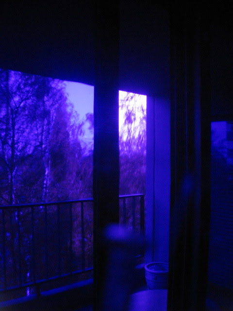 Looking outside in semi-UV.