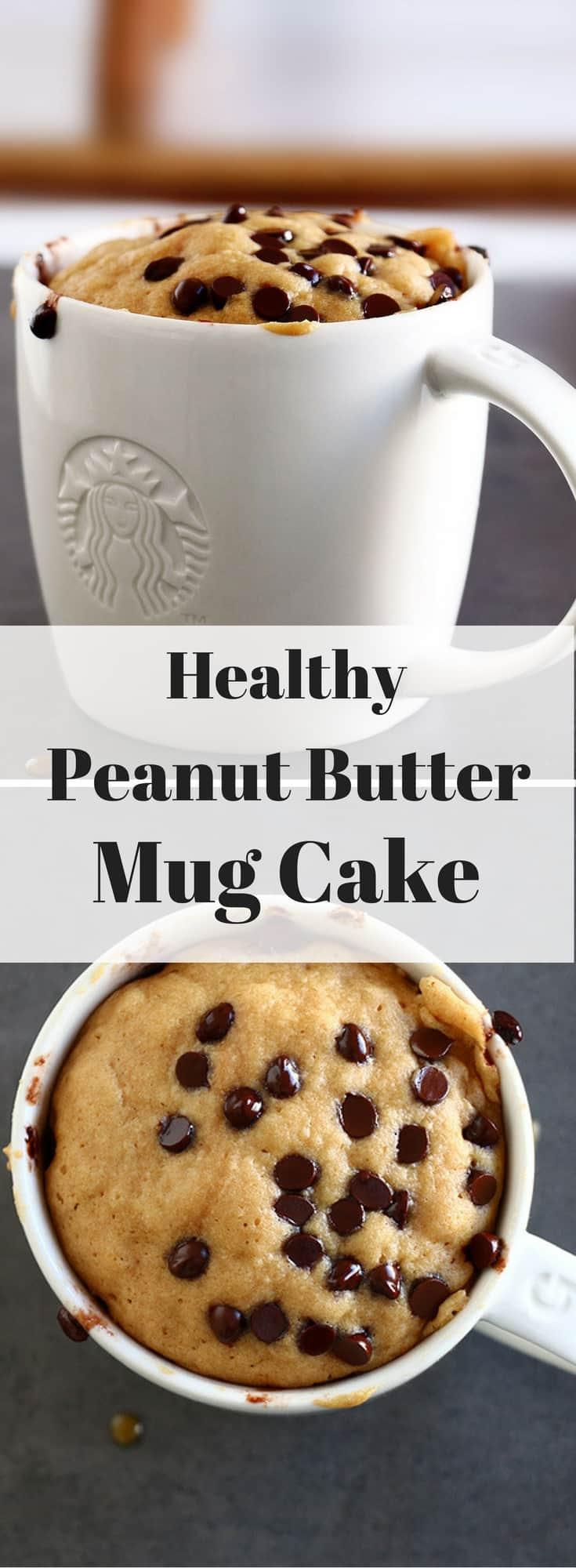 Healthy Peanut Butter Mug Cake - Baking-Ginger